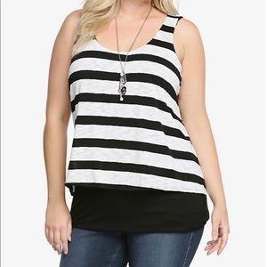 STRIPED DOUBLE-LAYERED TANK TOP